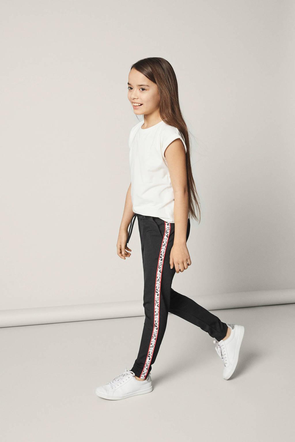name it KIDS broek, Zwart/ rood/ wit