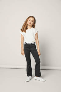 NAME IT KIDS bootcut broek Mira zwart, Zwart