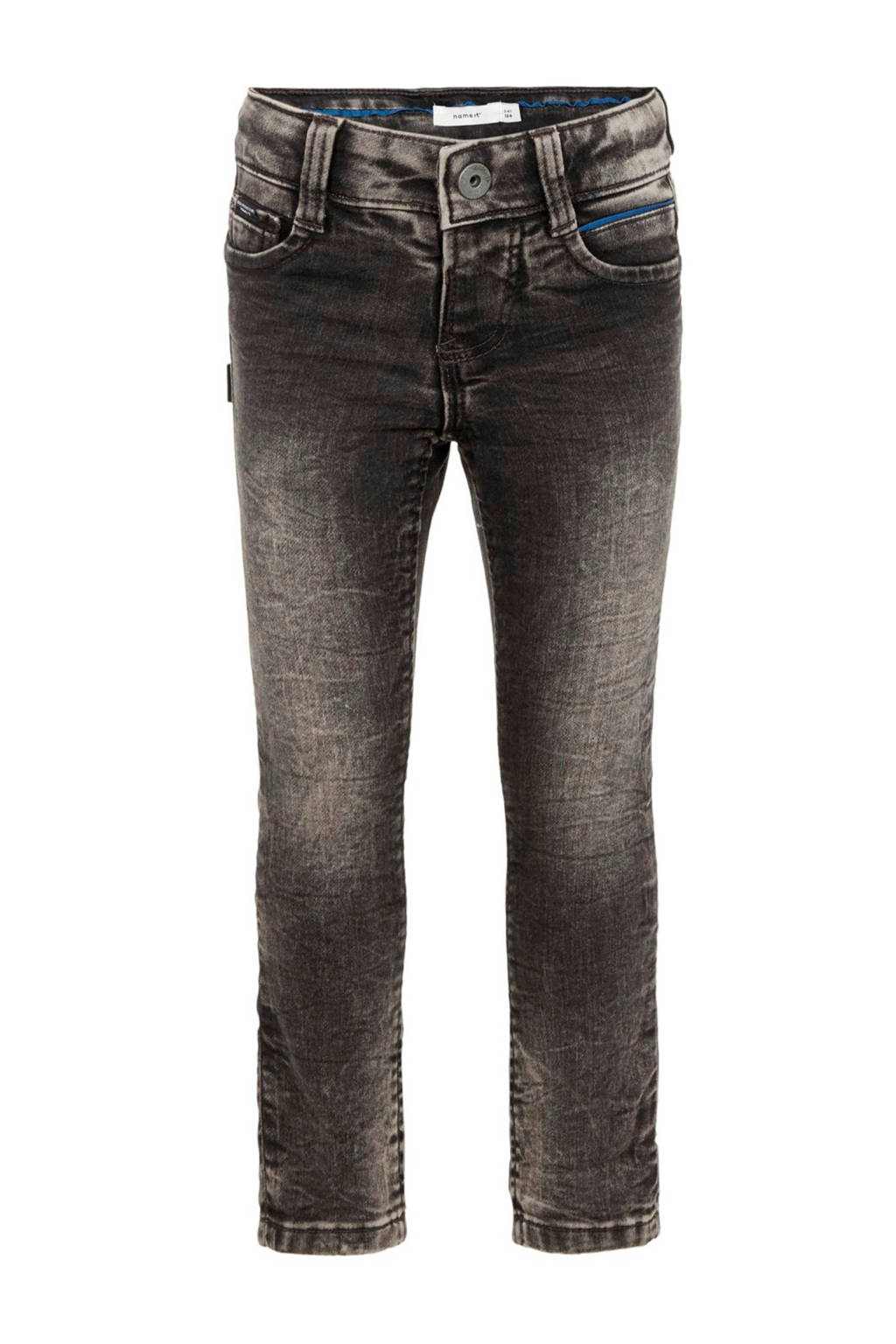 NAME IT MINI slim fit jeans Theo donkergrijs, Donkergrijs