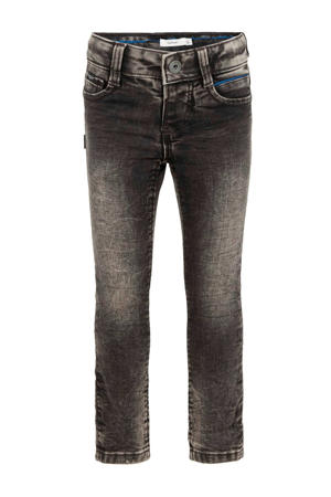 slim fit jeans Theo donkergrijs