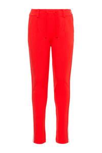 NAME IT KIDS regular fit broek Flornelia met zijstreep rood, Rood