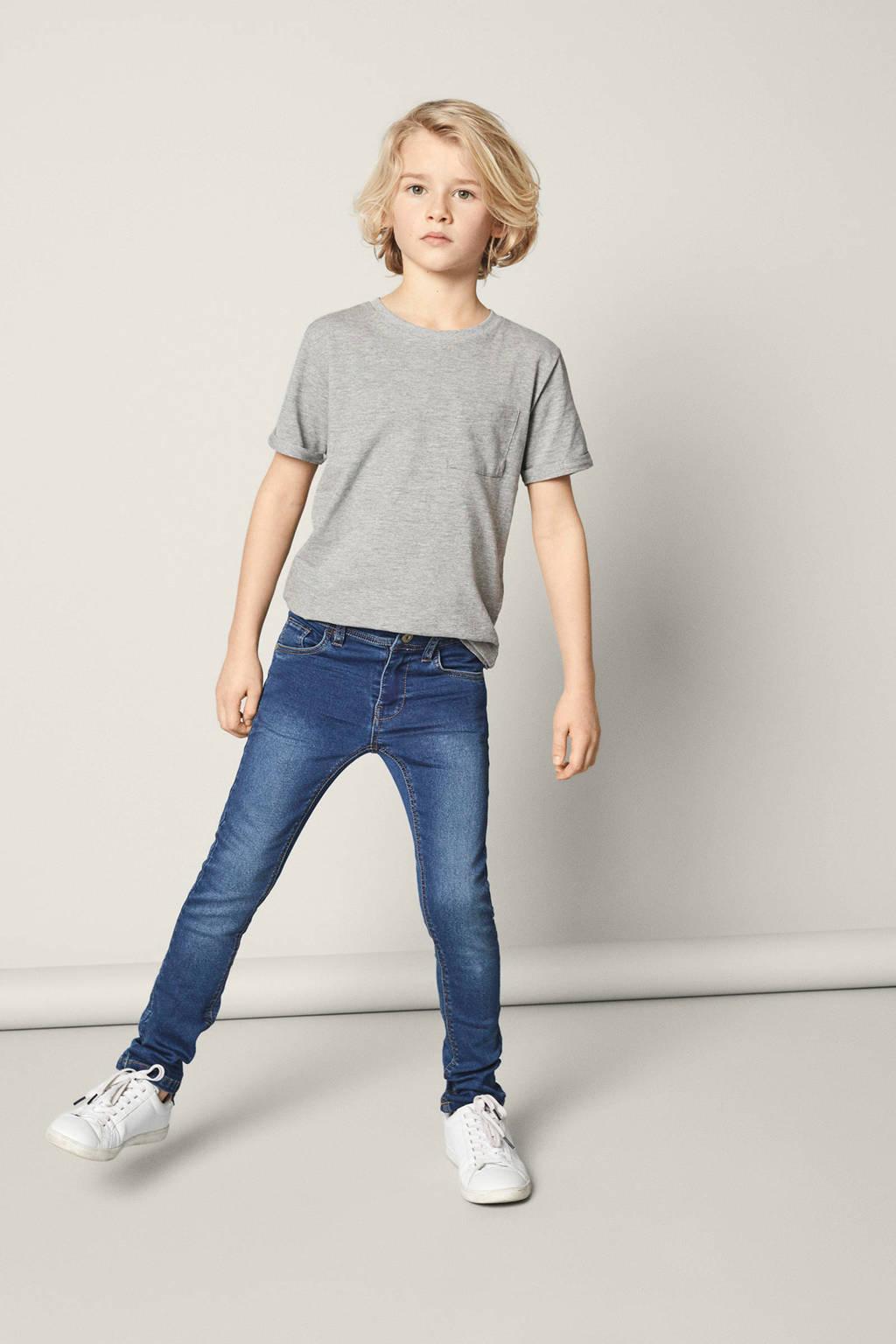 NAME IT KIDS x-slim fit jeans Theo Thayer, Dark blue denim
