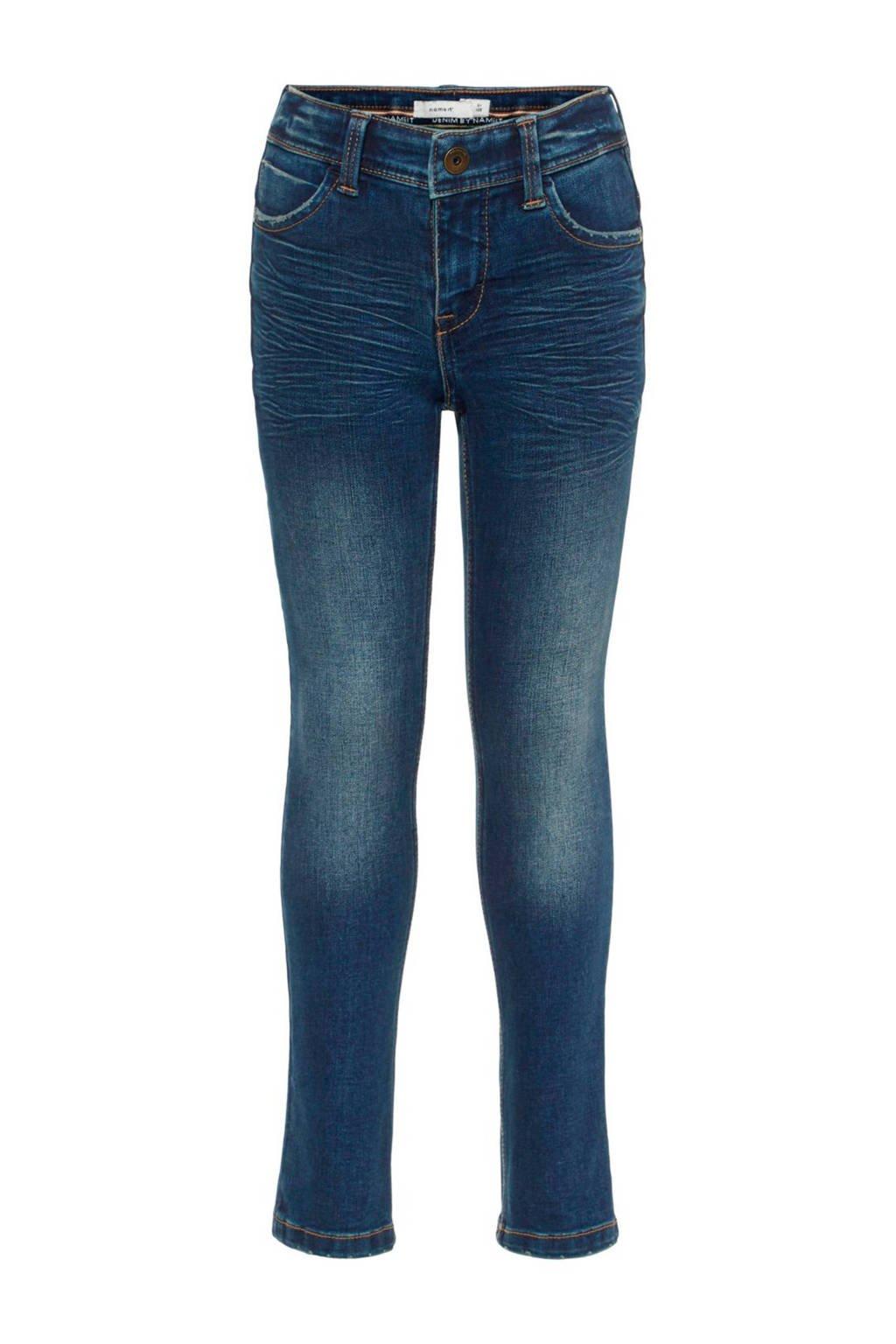 NAME IT KIDS slim fit jeans X-slim fit Theo, Dark blue denim