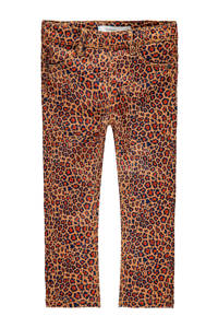 NAME IT MINI skinny jeans met panterprint geel/rood/donkerblauw, Geel/rood/donkerblauw