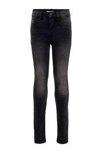 NAME IT KIDS slim fit jeans Theo zwart, Zwart