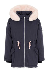 NAME IT MINI winterjas Minna parka donkerblauw, Donkerblauw