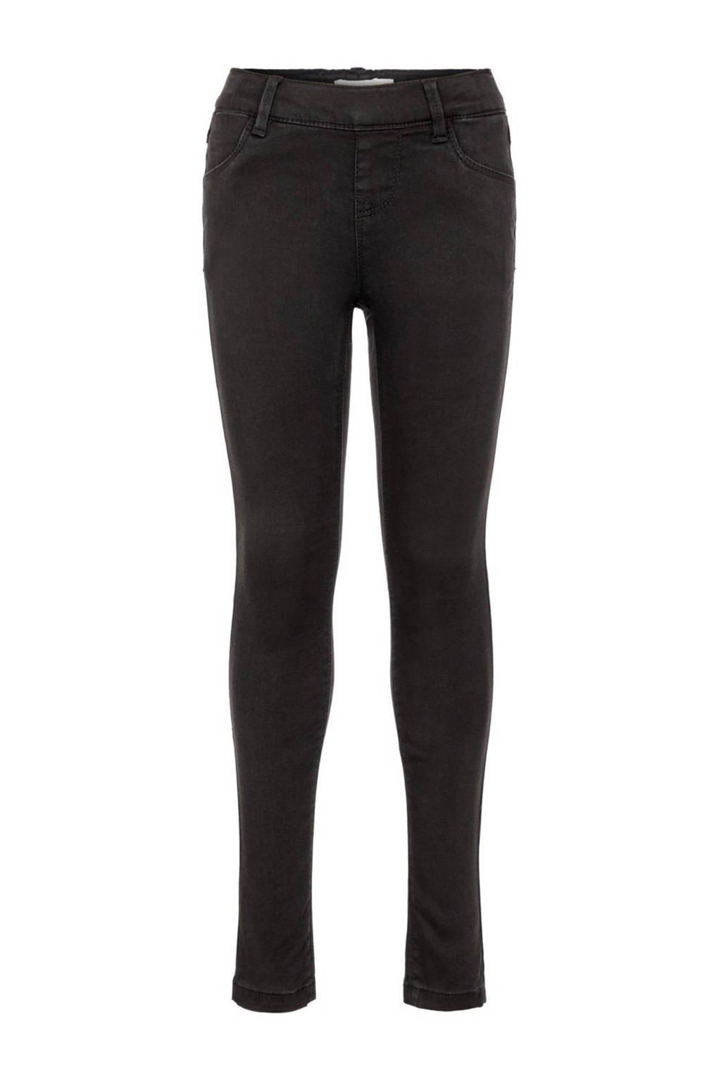 NAME IT KIDS skinny jeans Polly zwart, Zwart