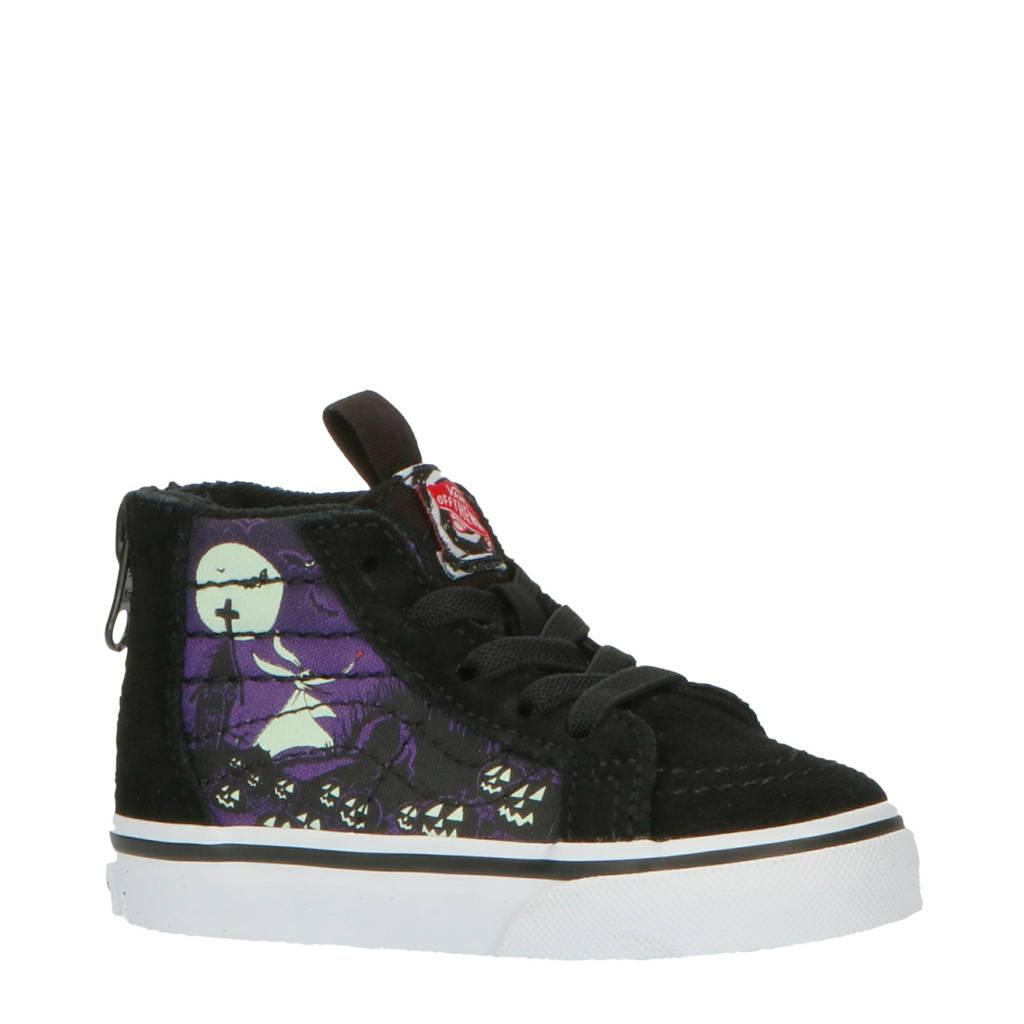 VANS Sk8-Hi Zip The Nightmare Before Christmas sneakers zwart/paars, Zwart/paars