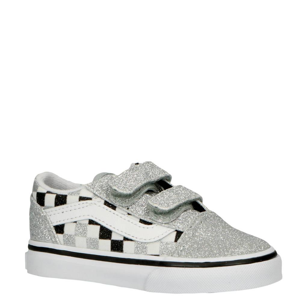 VANS  TD Old Skool V sneakers zilver, Zilver/wit/zwart