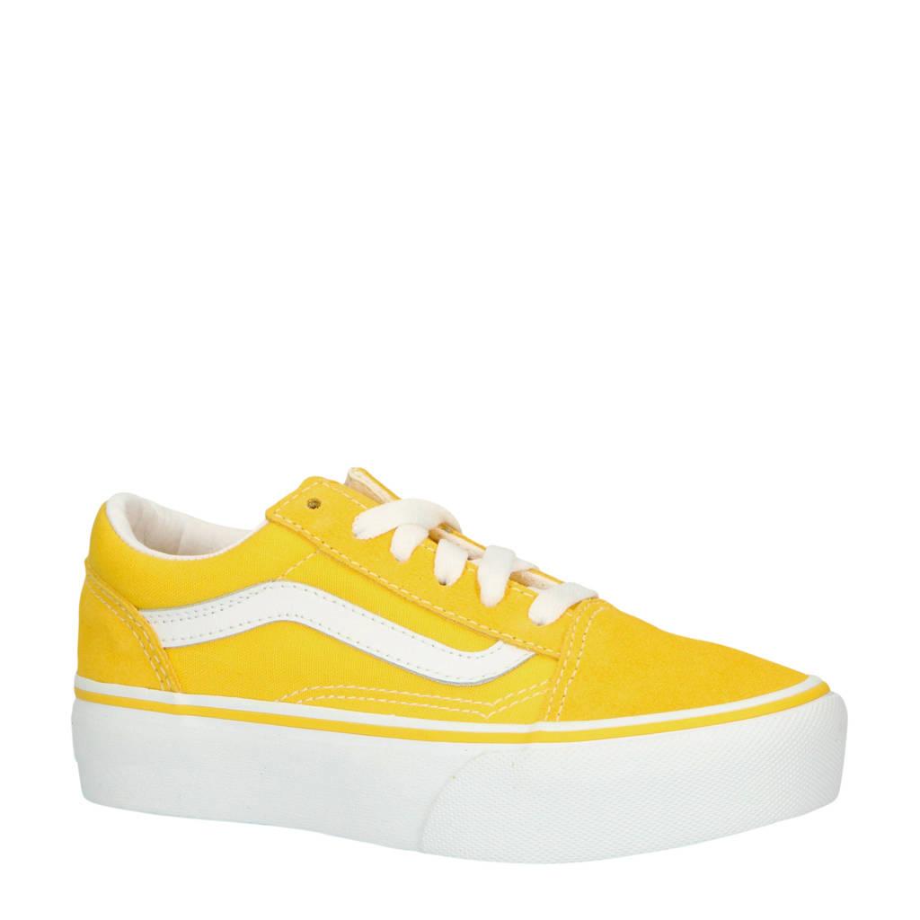 VANS  Old Skool Platform sneakers geel, Geel/wit