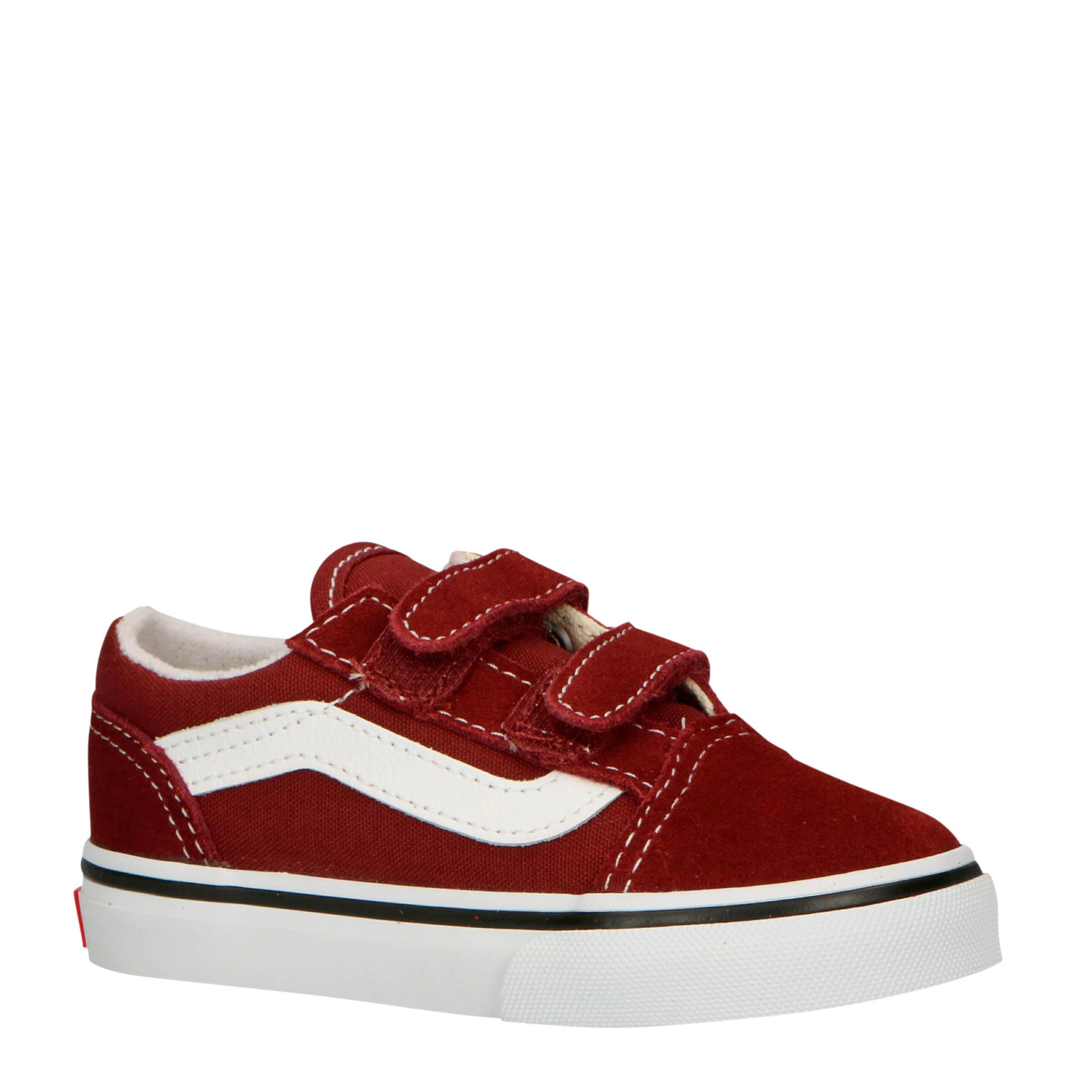 TD Old Skool V sneakers donkerroodwit