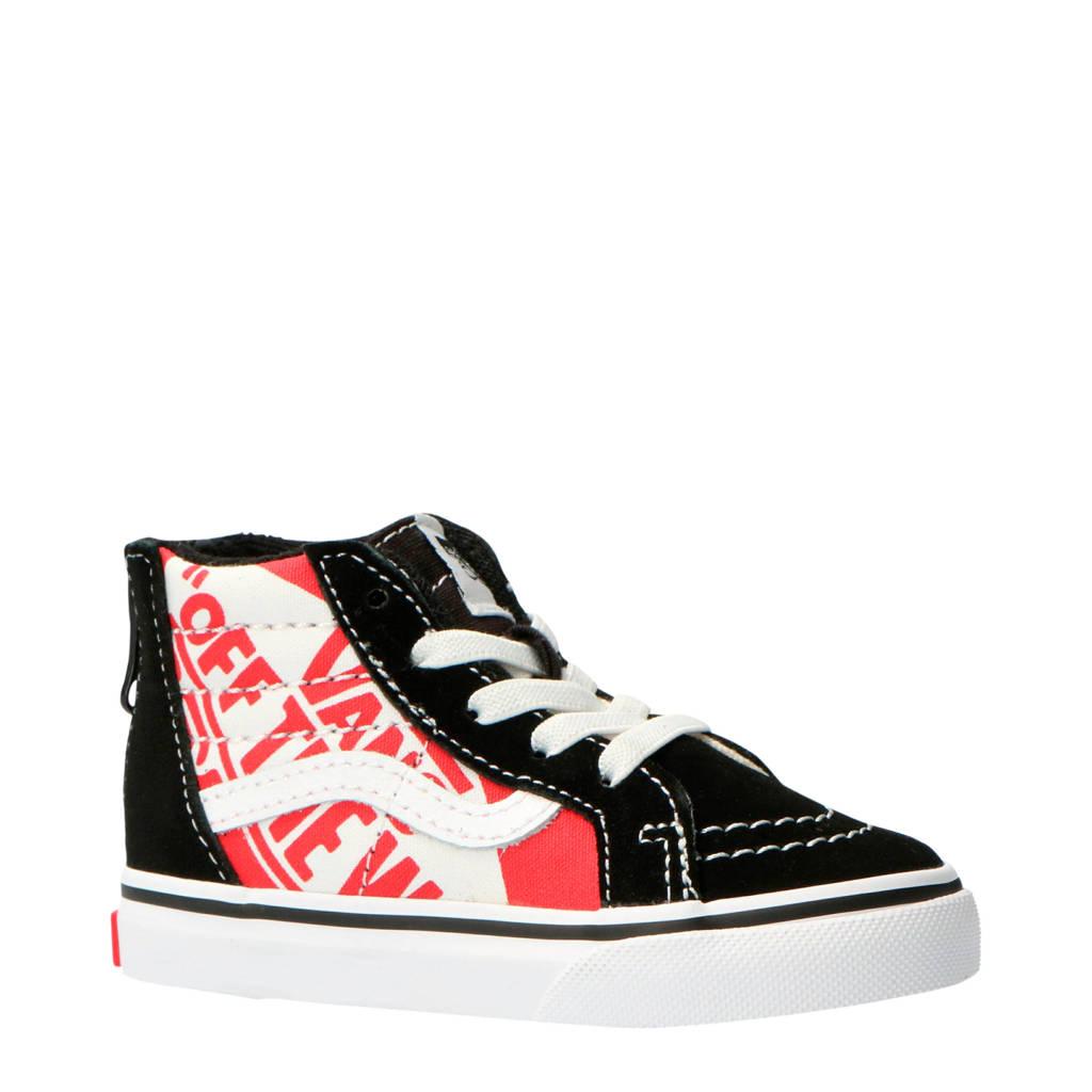 VANS  SK8-Hi sneakers zwart/wit/rood, Zwart/wit/rood