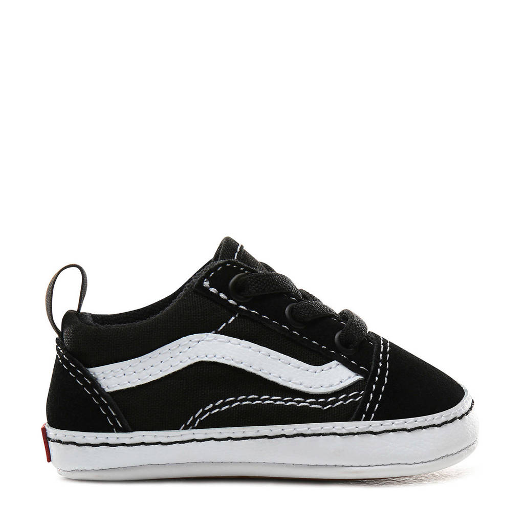 VANS Old Skool Crib babyslofjes zwart/wit kids, Zwart/wit