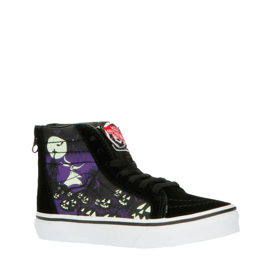 VANS Sk8-Hi Zip The Nightmare Before Christmas sneakers zwart/paars, Zwart/paars