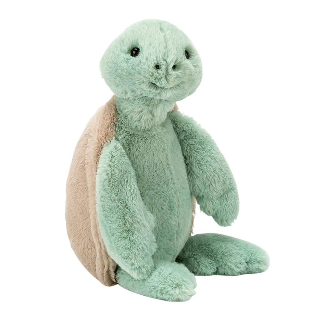 Jellycat Bashful Turtle Medium knuffel 31 cm, Groen