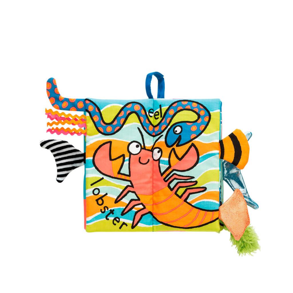 Jellycat Sea Tails Book knuffel 21 cm, Blauw