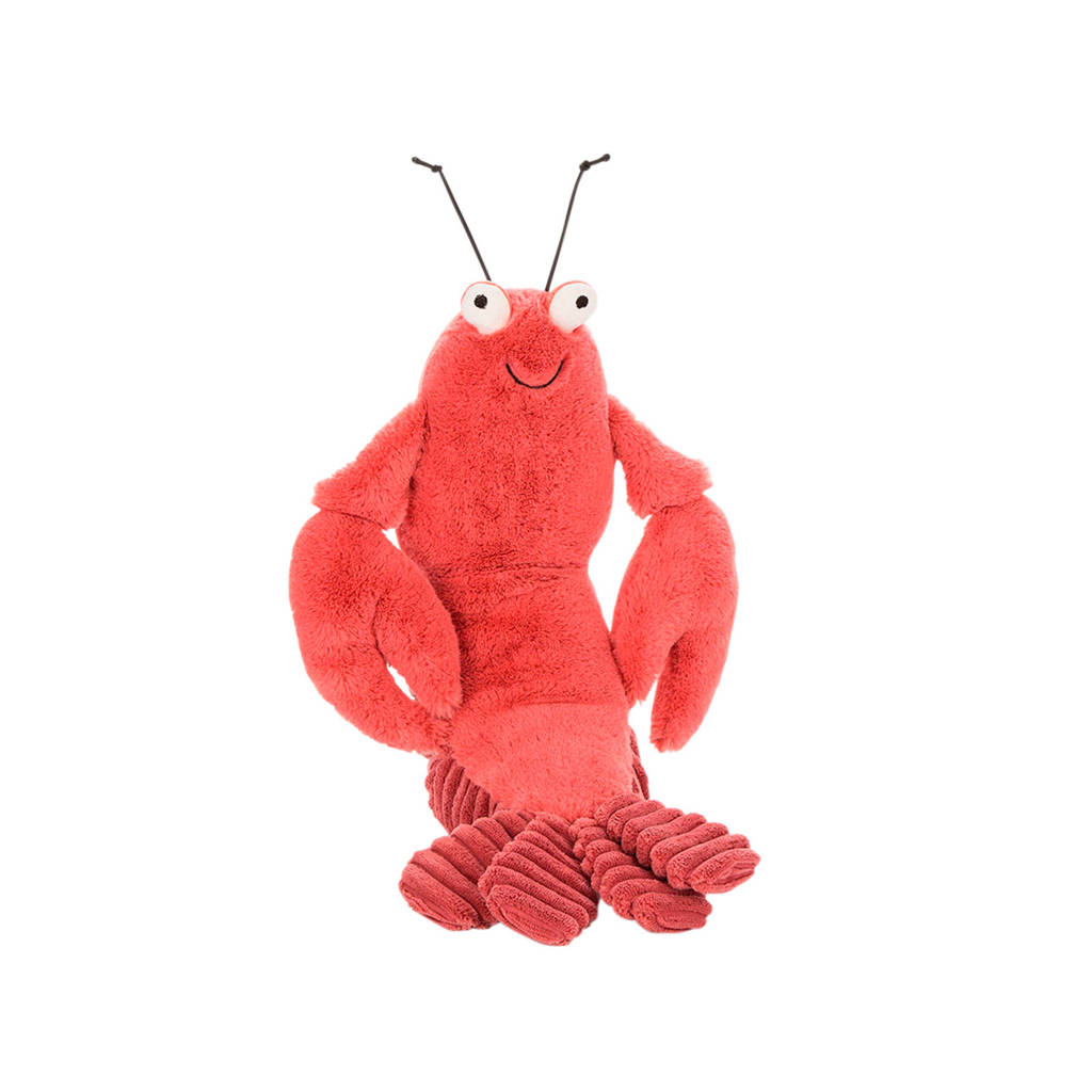 Jellycat Larry Lobster Medium knuffel 27 cm, Rood