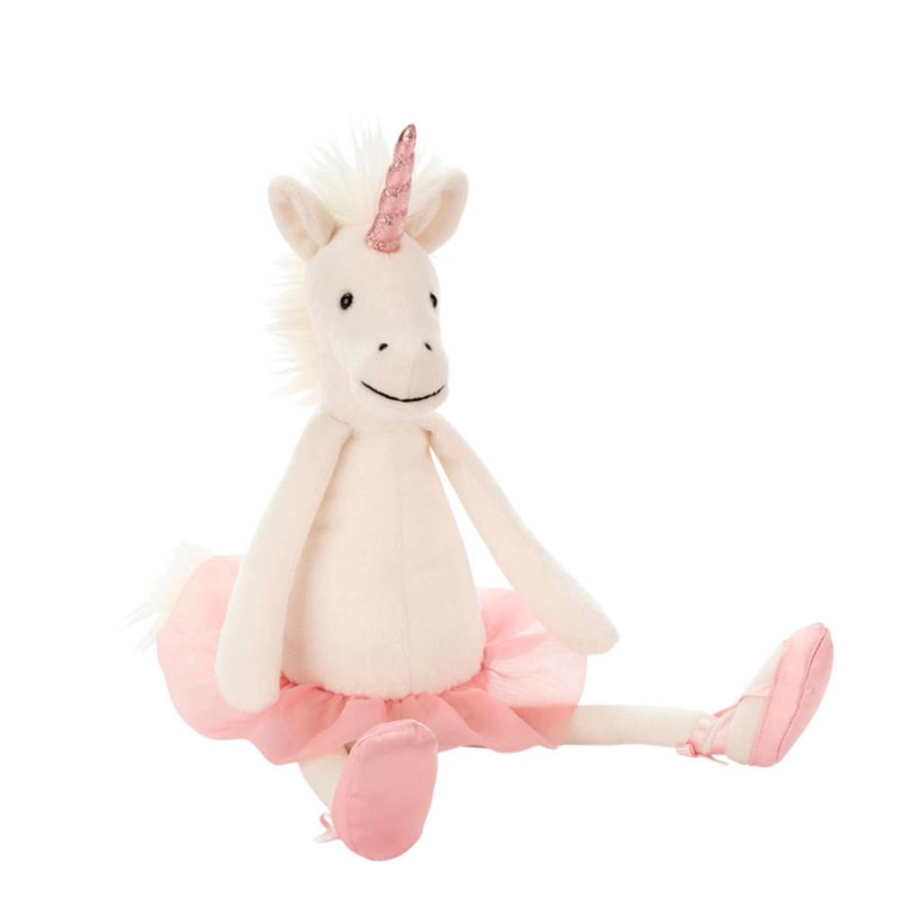 Jellycat Dancing Darcey Unicorn Medium knuffel 33 cm, Wit