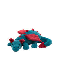 Jellycat Dexter dragon knuffel 50 cm, Blauw