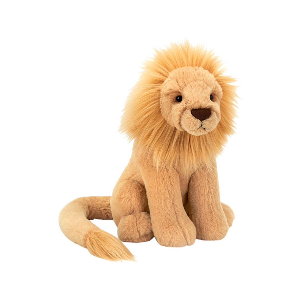 Jellycat Leonardo Lion Medium knuffel 26 cm, Geel