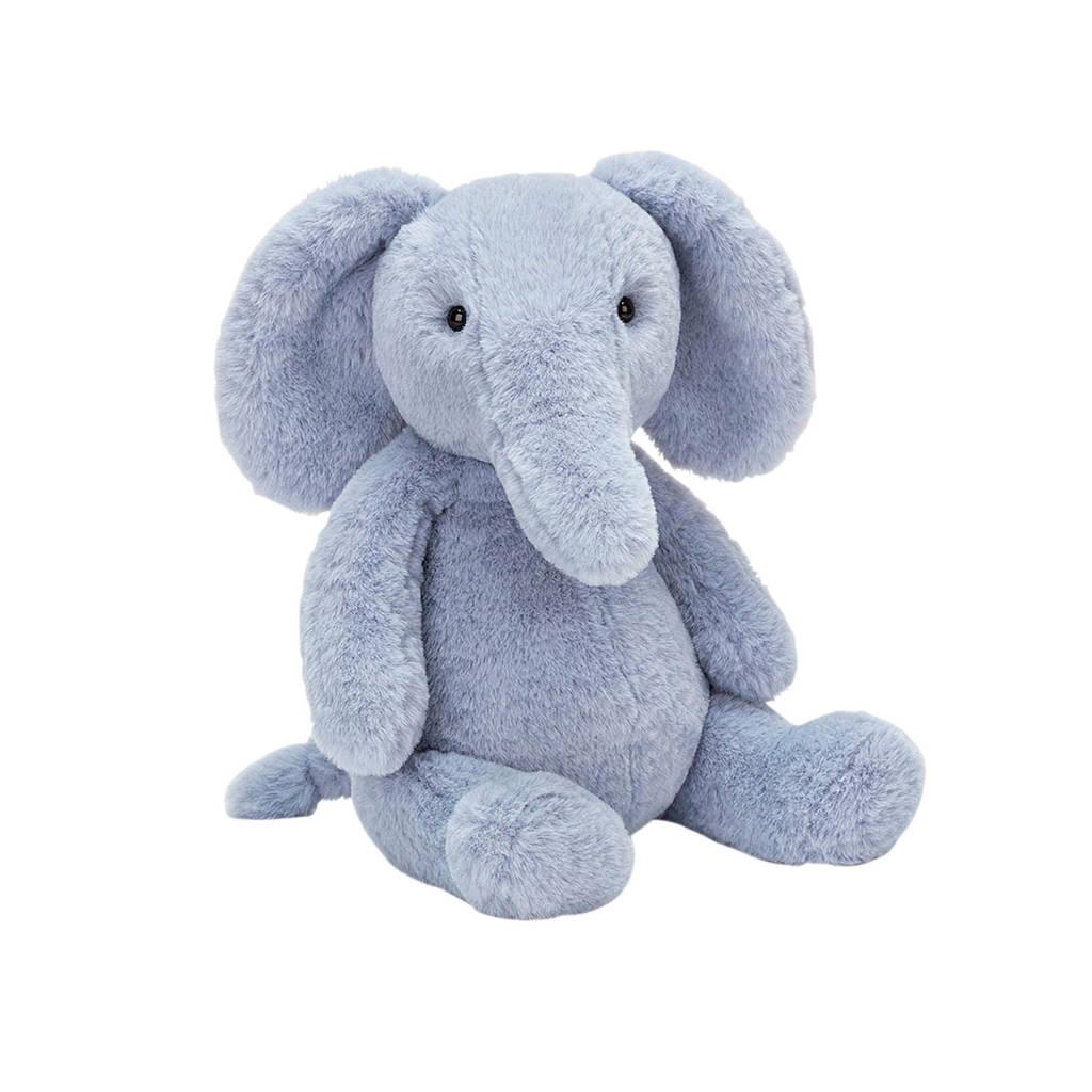 Jellycat Puffles Elephant Mediun knuffel 32 cm, Blauw