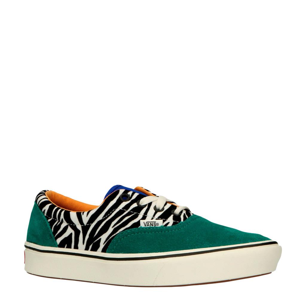 VANS  ComfyCush Era sneakers groen/zebraprint, Groen/wit/zwart
