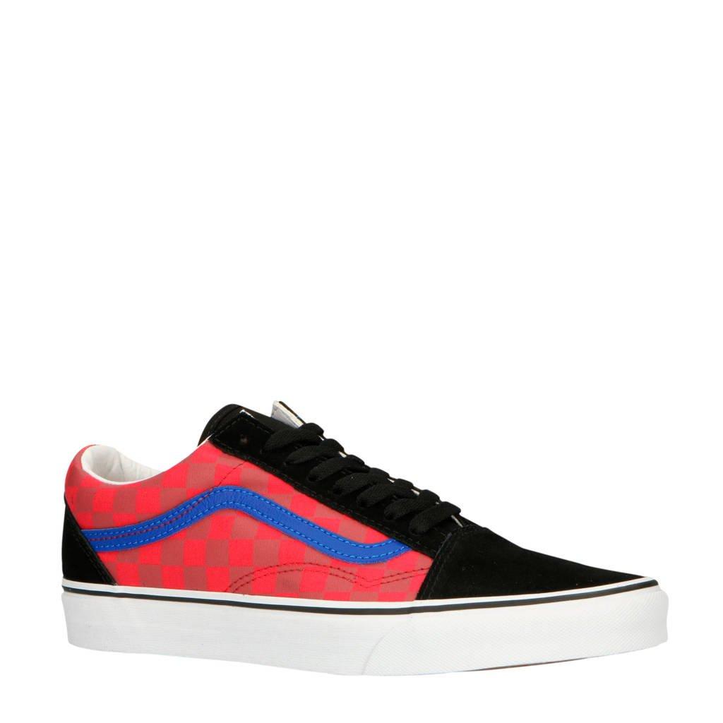 VANS  Old Skool suède sneakers rood/zwart, Rood/zwart