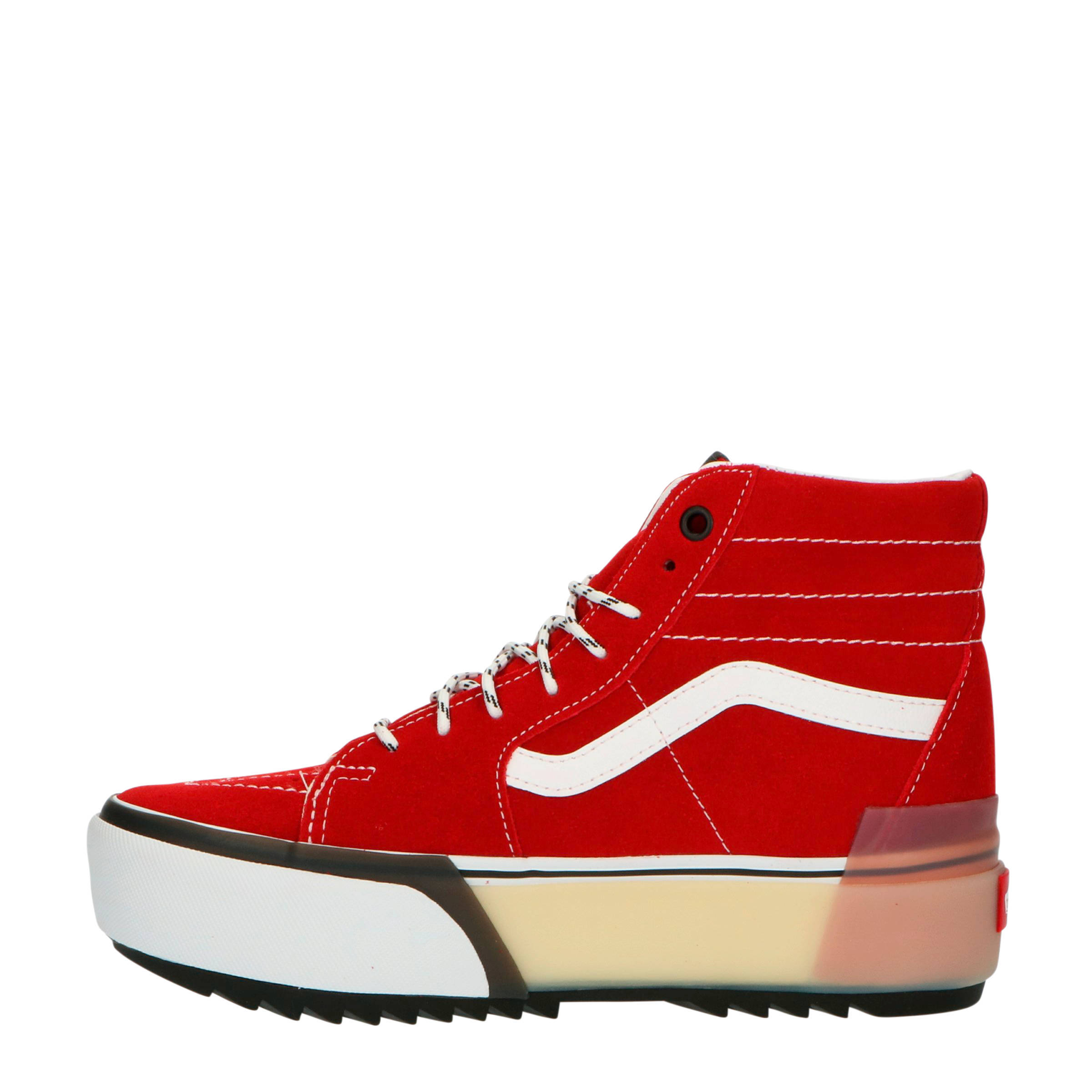 SK8 Hi Stacked suède plateau sneakers rood
