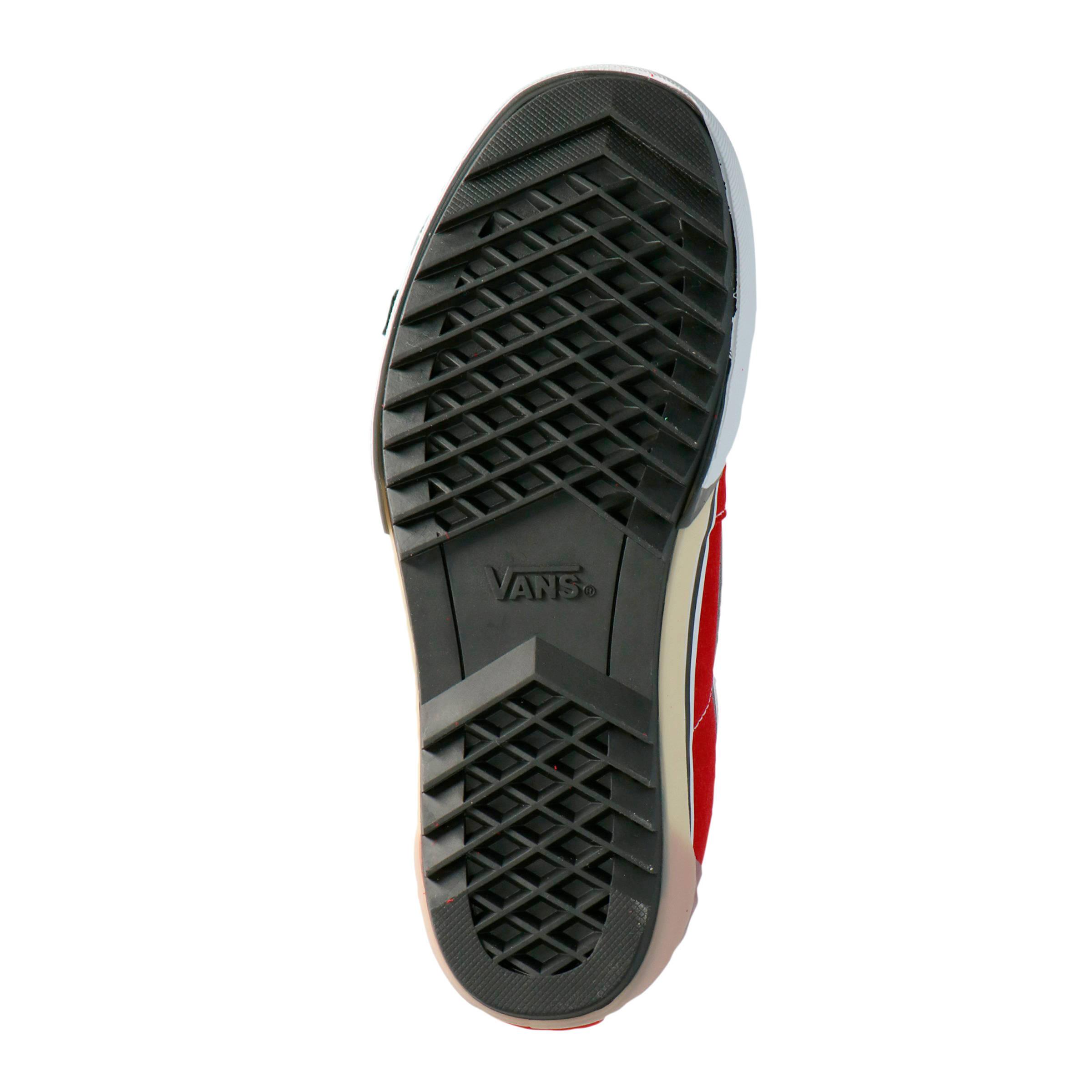 VANS SK8 Hi Stacked suède plateau sneakers rood | wehkamp