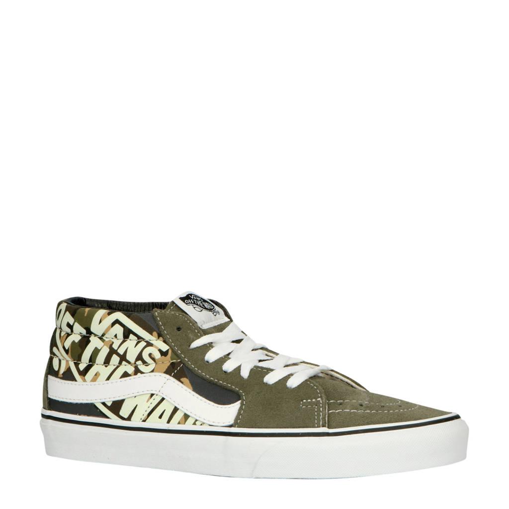 VANS  SK8-Mid suède sneakers groen/camouflage, Groen