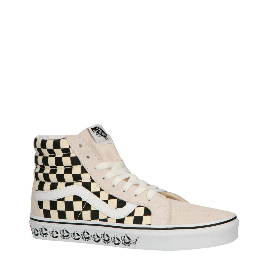 VANS  SK8-Hi Reissue suède sneakers beige/zwart, off white/zwart