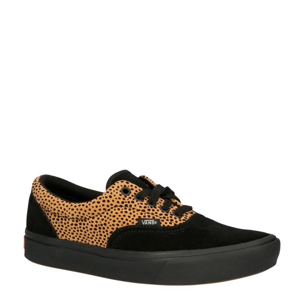 VANS ComfyCush Era sneakers zwart/panterprint, Zwart/bruin