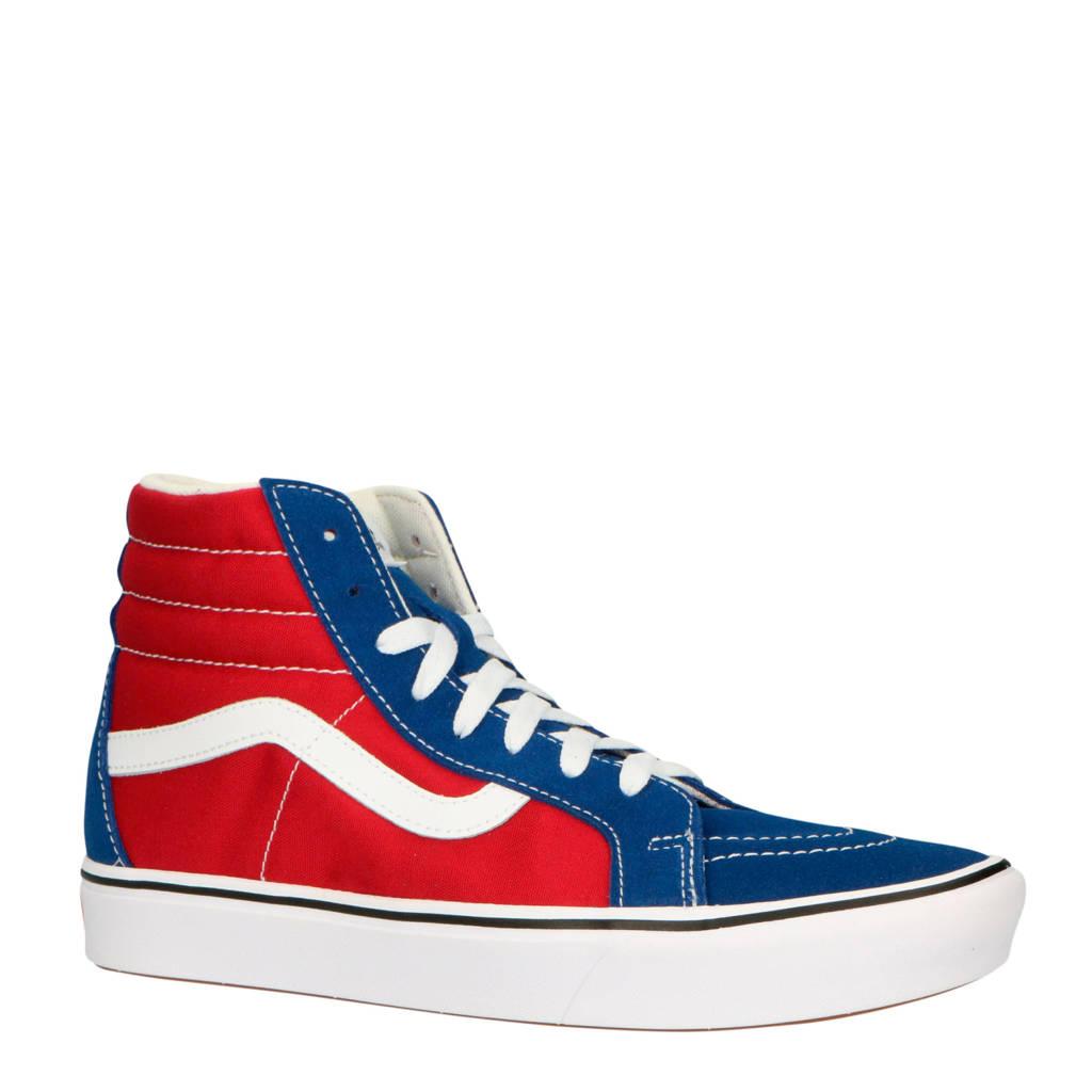 VANS  ComfyCush SK8-Hi sneakers rood/blauw/wit, Rood/blauw/wit
