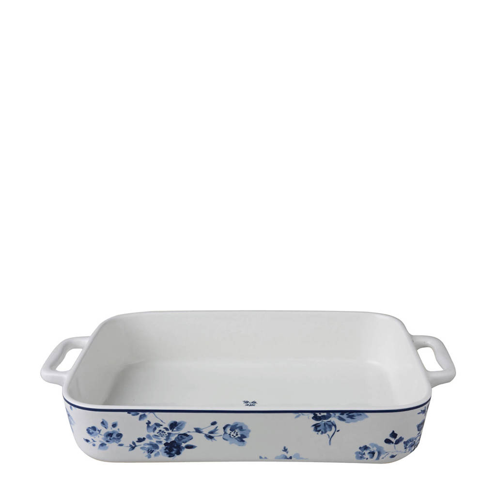Laura Ashley ovenschaal China Rose (32 x 22,5 cm), Blauw/wit