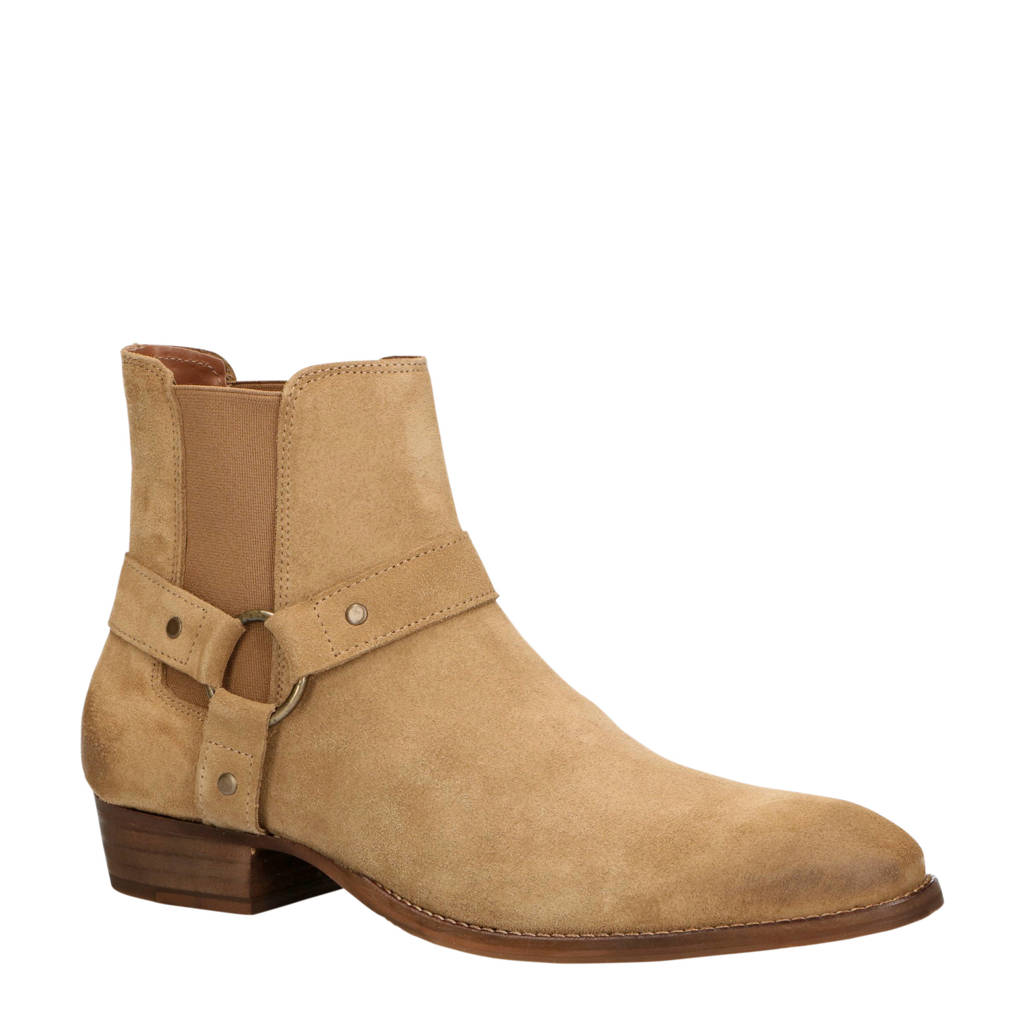 Bianco   56-71767 suède chelsea boots beige, Beige