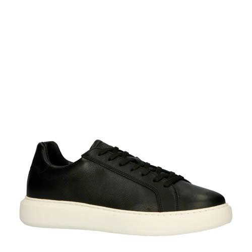 Bianco 64-71710 leren sneakers zwart/wit