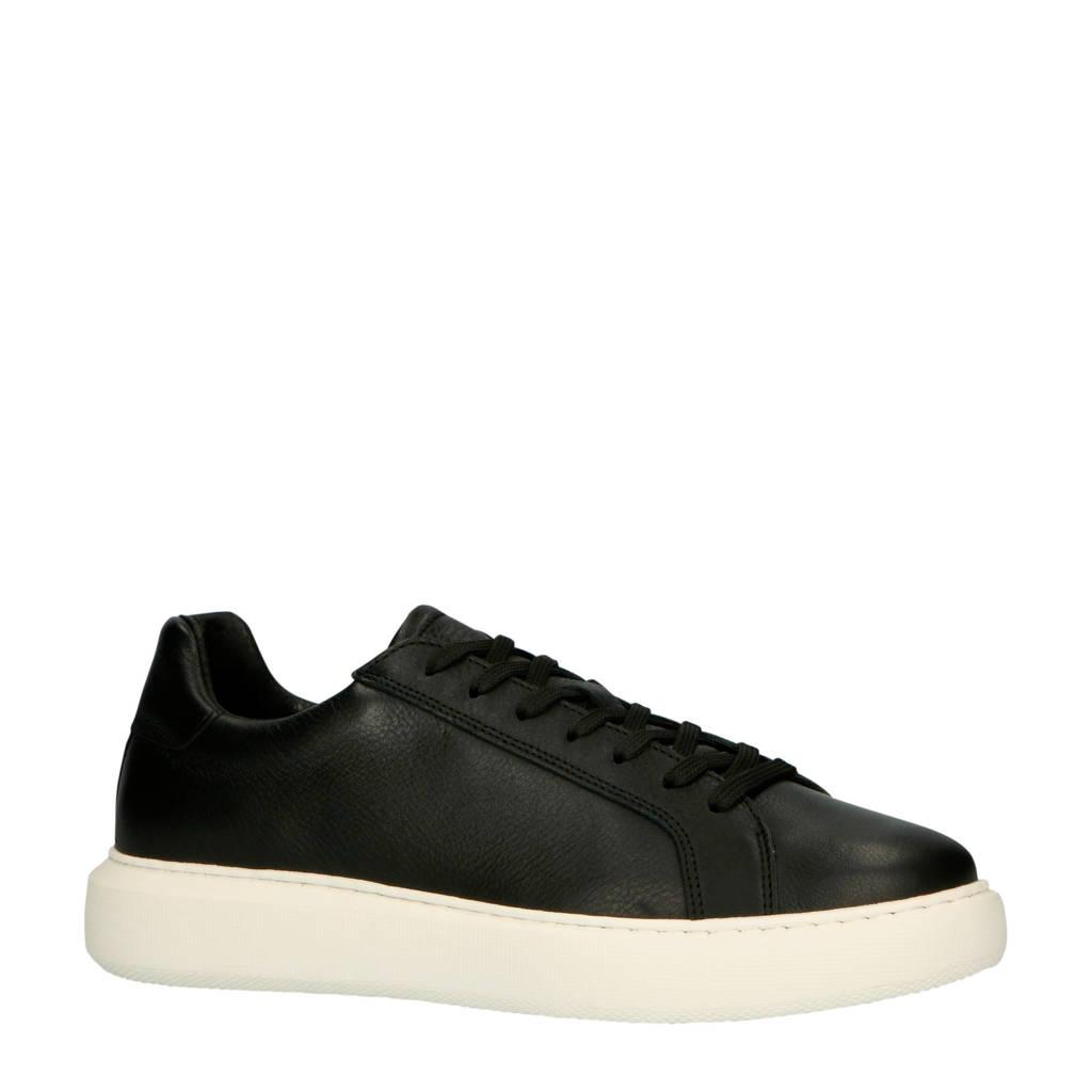 Bianco  64-71710 leren sneakers zwart/wit, Zwart/wit