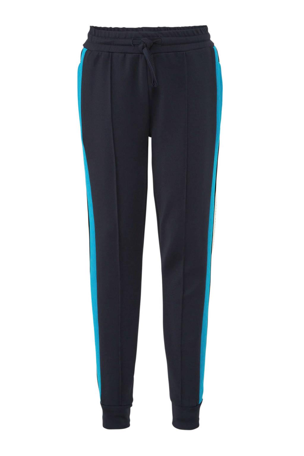 NIK&NIK broek Ferdy met zijstreep donkerblauw/blauw, Donkerblauw/blauw