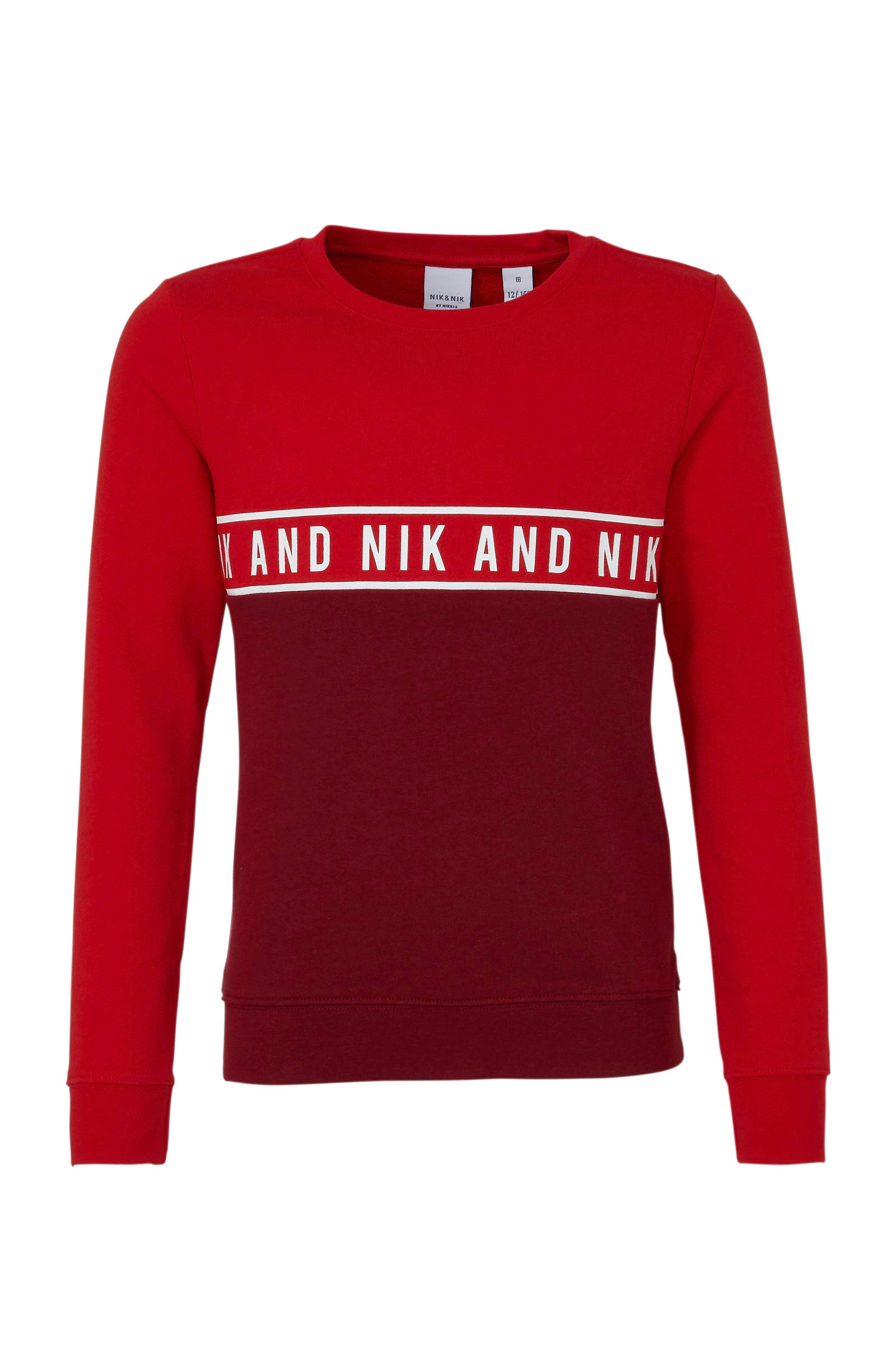 NIK&NIK Sweater rood |