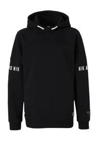 NIK&NIK hoodie One Nik met logo zwart, Zwart