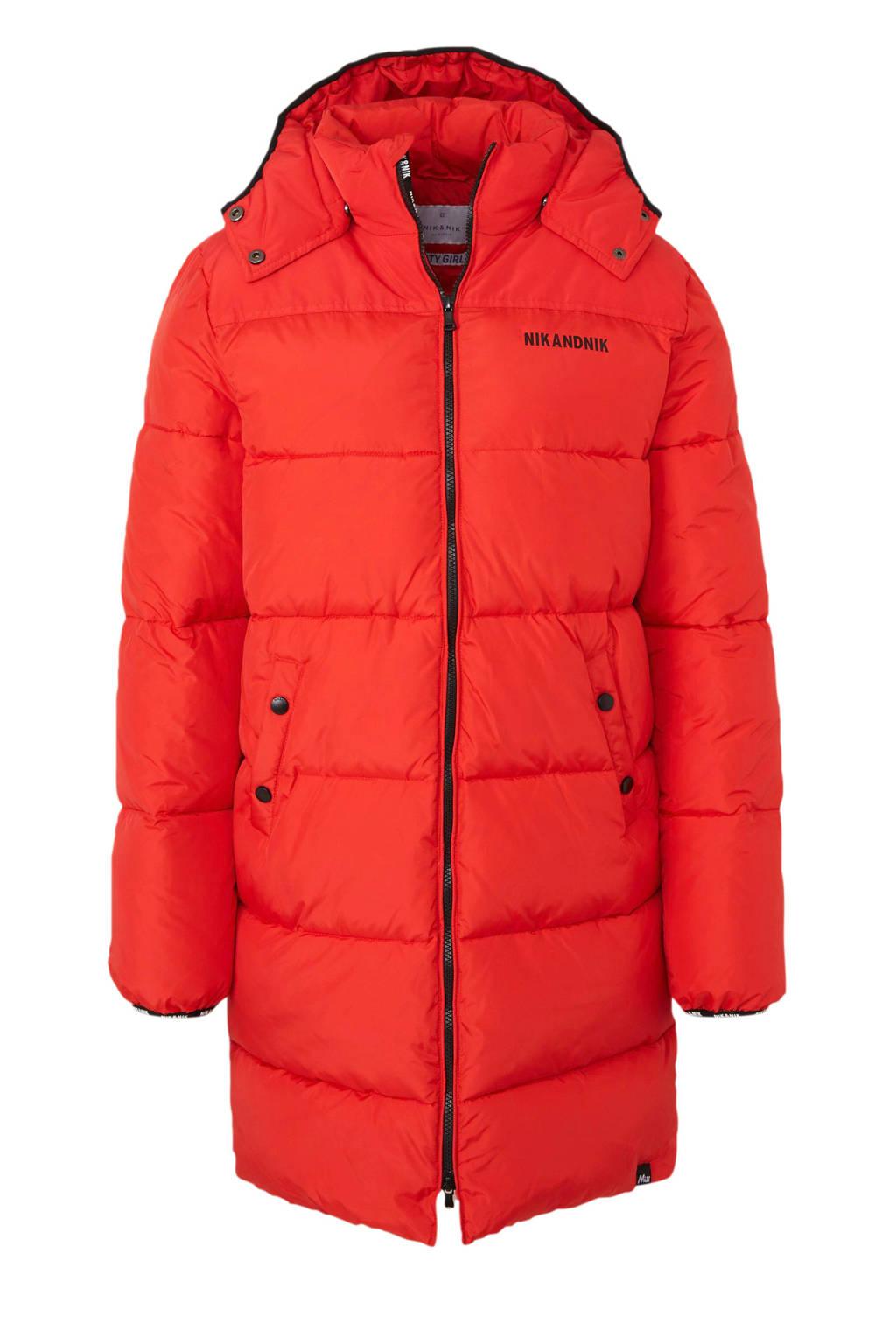 NIK&NIK winterjas Emia rood, Rood