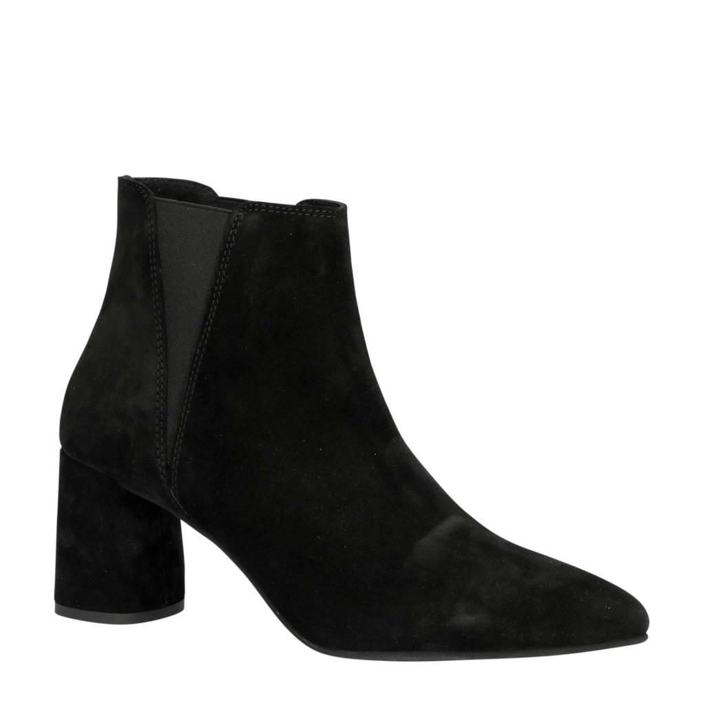 Bianco   26-50207 suède chelsea boots zwart, Zwart