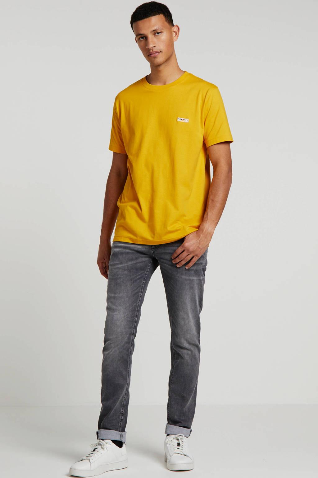 Nudie Jeans T-shirt van biologisch katoen geel, Geel