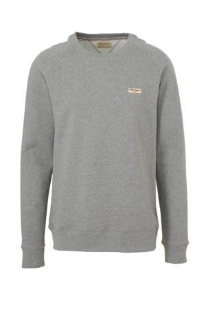 gemêleerde sweater van biologisch katoen grijs