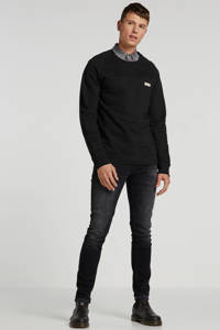 Nudie Jeans sweater van biologisch katoen zwart, Zwart