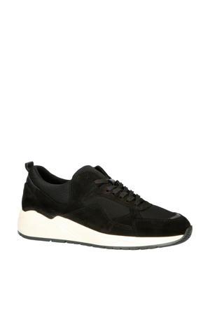 64-71821  suède chunky sneakers zwart