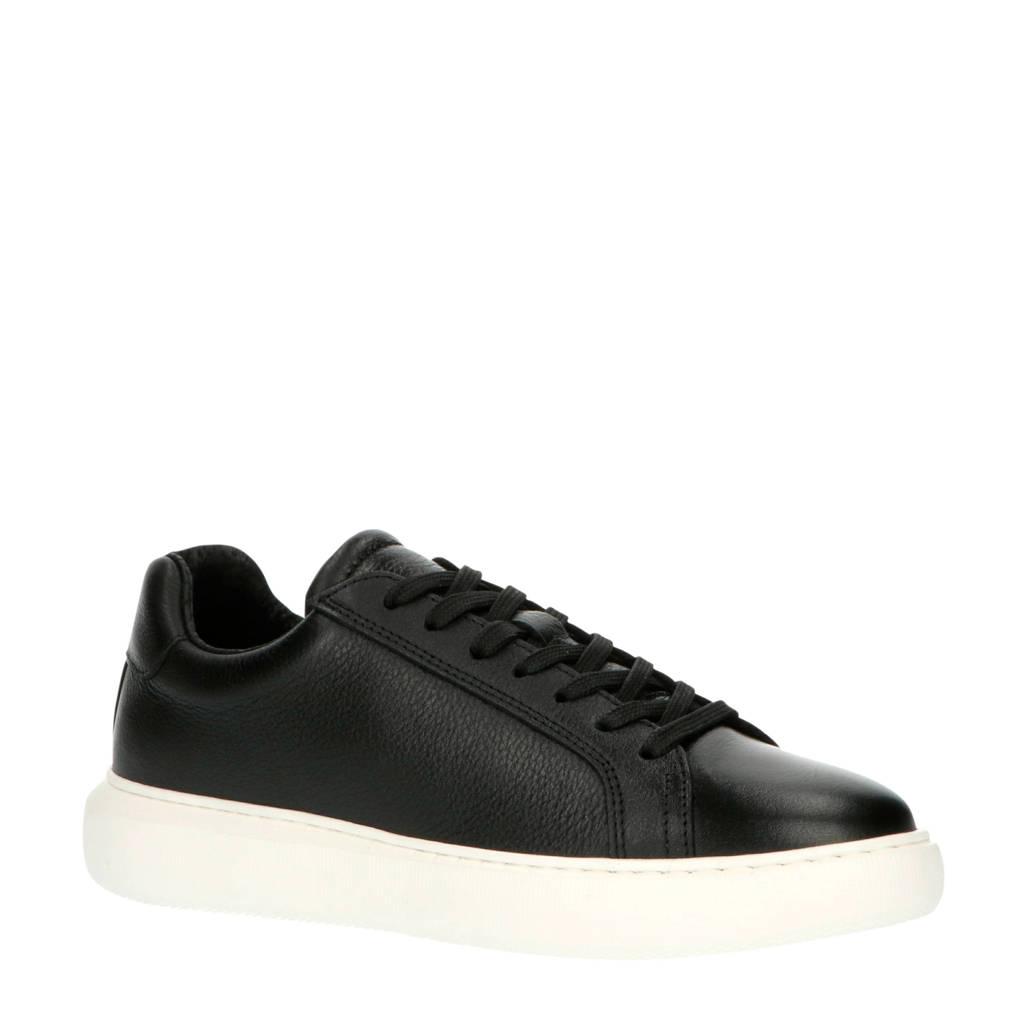 Bianco  32-50429 leren sneakers zwart, Zwart