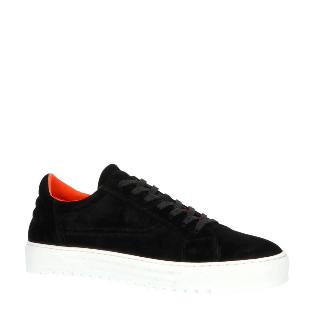 Bianco  64-71811 suède sneakers zwart, Zwart
