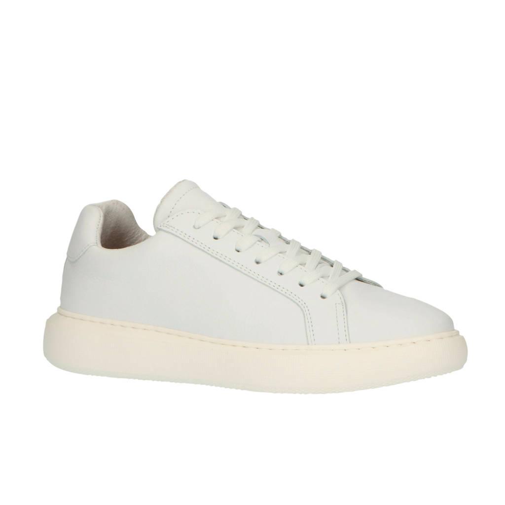 Bianco  32-50429 leren sneakers wit, Wit