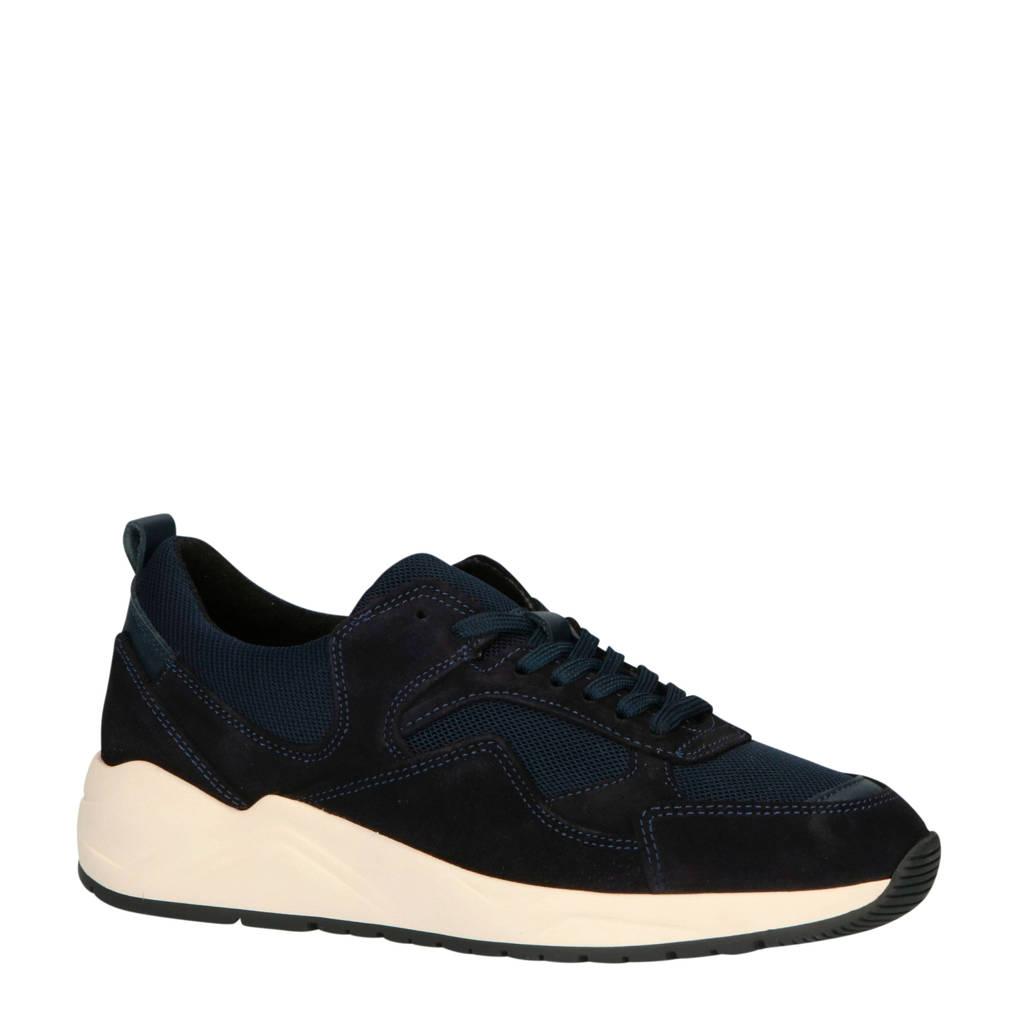Bianco 32-50419  suède chunky sneakers donkerblauw, Donkerblauw